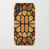sacred geometry iPhone & iPod Cases featuring Sacred geometry - Voronoi by Enrique Valles
