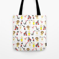 circus Tote Bags featuring Circus by Lydia Meiying