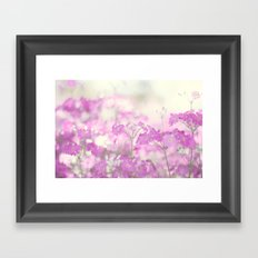 Feeling pink Framed Art Print