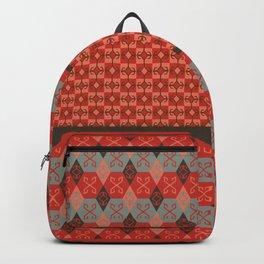 Bohemian Oriental Kilim Motif Pattern Quilt Backpack
