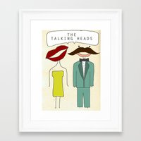 talking heads Framed Art Prints featuring The Talking Heads by Courtney Vlaming