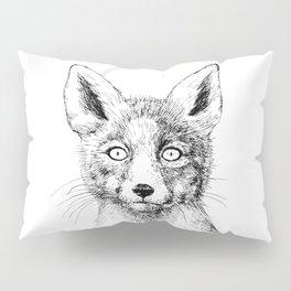 Fox portrait, ink drawing Pillow Sham