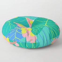 Elephant Ear Leaves + Sea Grapes Floor Pillow