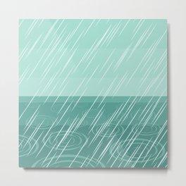 Meteoric rainfall in Winter - rainy weather Metal Print