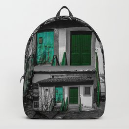 Vintage black and white Italian house Backpack