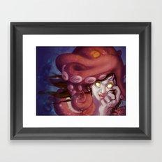 Octopus Hat Framed Art Print