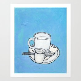 coffee and spoon Art Print