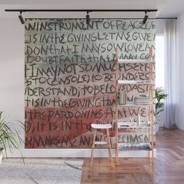 make me an instrument of peace Wall Mural