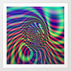 Psychedelic Ovals Art Print