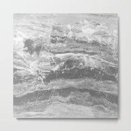 Real Gray Marble Metal Print