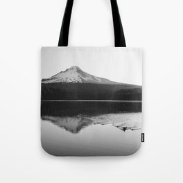 Wild Mountain Sunrise - Black and White Nature Photography Tote Bag