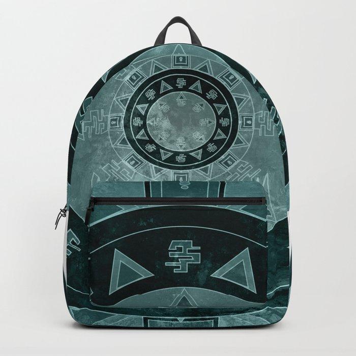 ethnic mandala with watercolors Backpack