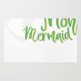 Irish Mermaid ST Patrick's Day Funny Girl Women Rug