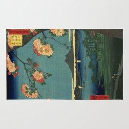Ukiyo-e, The Grove at the Suijin Shrine Rug