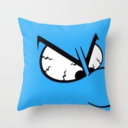 Angry Smurf Throw Pillow
