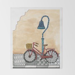 Bicycle on the El Camino Real Throw Blanket