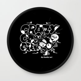Crazyblack Wall Clock