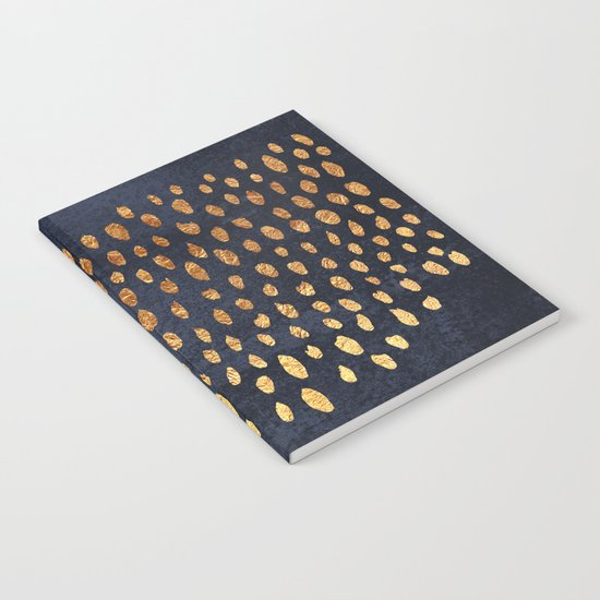 Pattern Play / Navy & Gold Notebook