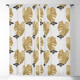 Botanical, Butterfly & Monstera Blackout Curtain