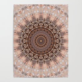 Mandala romantic pink Poster
