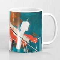 skyline Mugs featuring Skyline by Rafael Galue