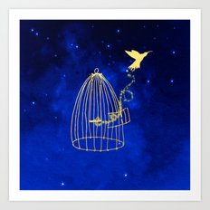 Let your heart fly Art Print