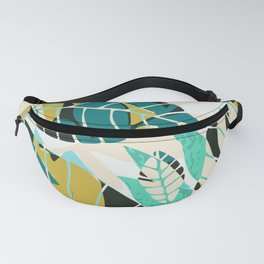 Beach summer tropical plant pattern Fanny Pack