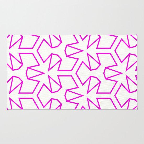 Van Zwaben Pink Neon Pattern Rug