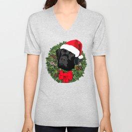 Duke the Lab does Christmas Unisex V-Neck