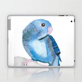 Watercolour Lineolated Parakeet Laptop & iPad Skin