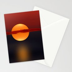 Sun on Red and Blue Stationery Cards