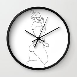 Being pretty and sexy Wall Clock
