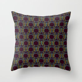 Fancy Fish Scales - Royal  Throw Pillow