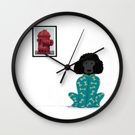Poodle in a Onesie Wall Clock