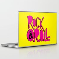 rock and roll Laptop & iPad Skins featuring Rock & Roll by Chelsea Herrick