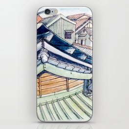 Roof between yesterday and tomorrow. iPhone Skin