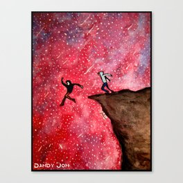 Jumping Off The Edge Canvas Print