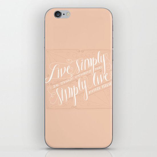 Live Simply iPhone & iPod Skin