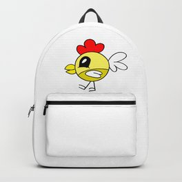 Drawn by hand a funny little chicken for children and adults Backpack