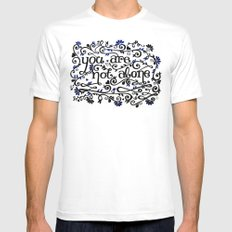 You Are Not Alone White SMALL Mens Fitted Tee