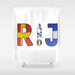 Romeo and Juliet - Navy Code Shower Curtain