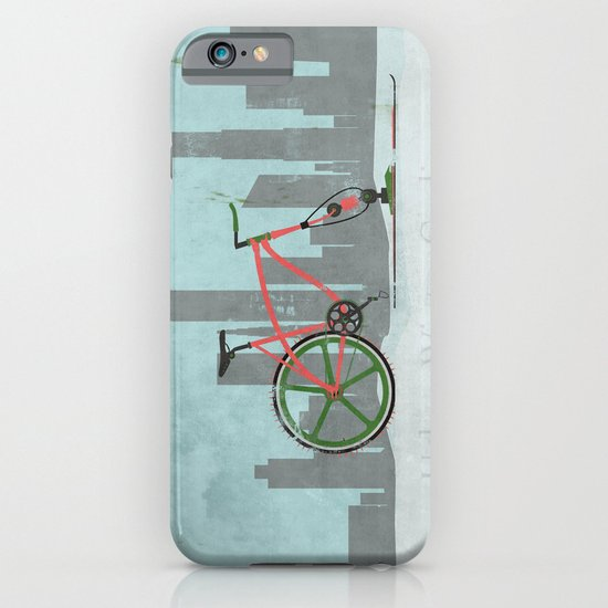 Urban Winter Cycling iPhone & iPod Case