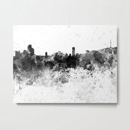 Seoul skyline in black watercolor Metal Print