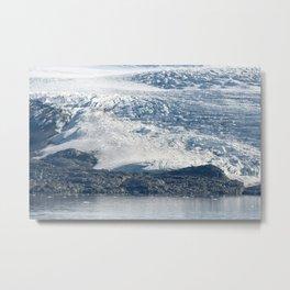 Arctic glacier, rock and icy water Metal Print