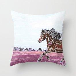 Wild Horse 1 Throw Pillow