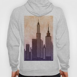 Modern City Buildings And Skyscrapers Sketch, New York Skyline, Wall Art Poster Decor, New York City Hoody