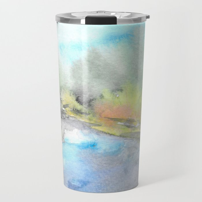 Autumn river Travel Mug