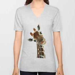 Cute Giraffe Unisex V-Neck