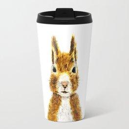cute little squirrel watercolor Travel Mug
