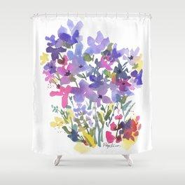 Little Fairy Field Flowers Shower Curtain